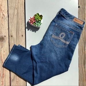 Seven7 Jeans Blue Jeans Capri Pants Bling Plus 20